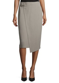 Lafayette 148 New York Ciara Wrap Pencil Skirt