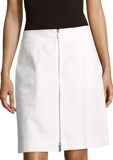 Lafayette 148 New York Cindy Solid Cotton-Blend Skirt