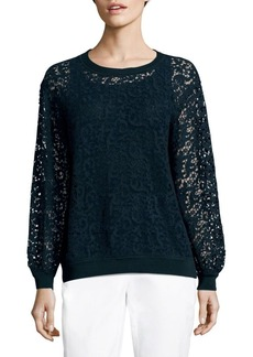 Lafayette 148 New York Cirilla Crocheted Lace Top