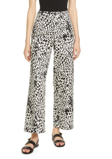 Lafayette 148 New York Clark Cheetah Print Twill Ankle Pants