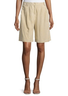 Lafayette 148 New York Clarkson Pleated-Front Shorts