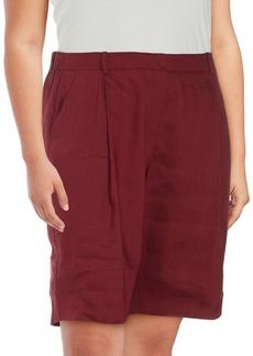 Lafayette 148 Clarkson Solid Linen-Blend Shorts