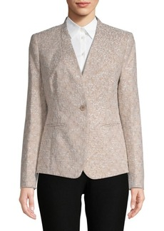 Lafayette 148 Clary One-Button Jacket