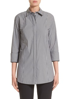 Lafayette 148 New York Claude Scania Stripe Blouse