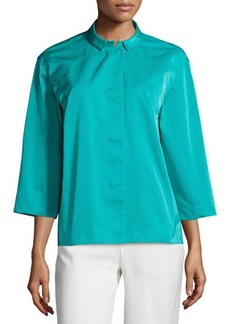 Lafayette 148 New York Claudette 3/4-Sleeve Topper
