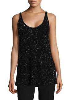Lafayette 148 New York Clea Shimmering Sequins Top