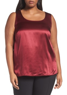 Lafayette 148 New York Cleo Silk Charmeuse Shell (Plus Size)