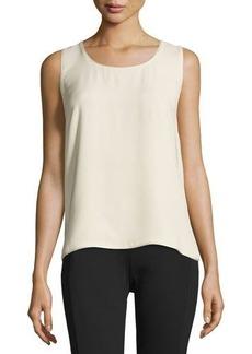 Lafayette 148 New York Cleo Sleeveless Silk Top