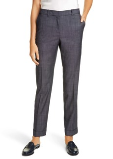 Lafayette 148 New York Clinton Cuffed Wool Blend Pants