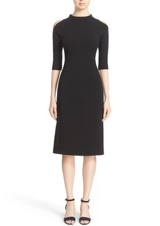 Lafayette 148 New York 'Maquette' Jersey Cold Shoulder Dress