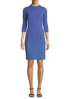 Lafayette 148 Cold-Shoulder Sheath Dress
