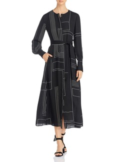 Lafayette 148 New York Colleen Belted Midi Dress