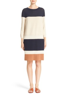 Lafayette 148 New York Colorblock Sweater Dress