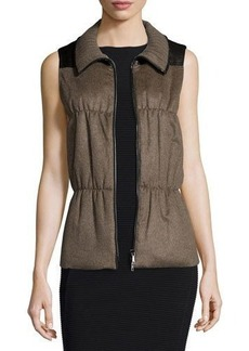 Lafayette 148 New York Colt Cashmere Puffer Vest