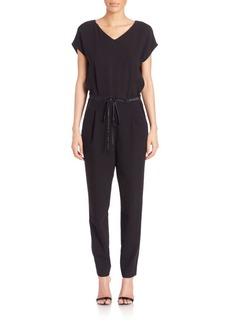 Lafayette 148 New York Columbia Cotton & Silk Jumpsuit