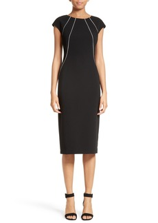 Lafayette 148 New York Contrast Piping Deloris Dress