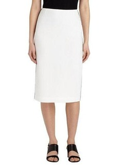 Lafayette 148 New York Contrast-Trim Pencil Skirt