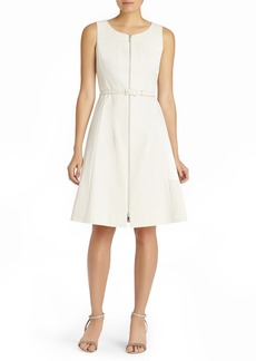 Lafayette 148 New York Coralie Belted Fundamental Bi-Stretch Dress