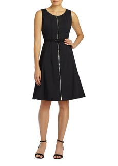 Lafayette 148 New York Coralie Belted Fundamental Bi-Stretch Dress