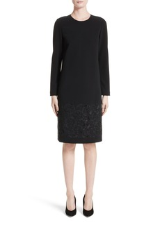 Lafayette 148 New York Corbin Embroidered Laser Cut Dress