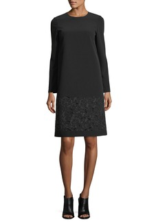 Lafayette 148 Corbin Long-Sleeve Emory Cloth Dress