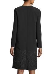 Lafayette 148 Corbin Long-Sleeve Emory Cloth Dress