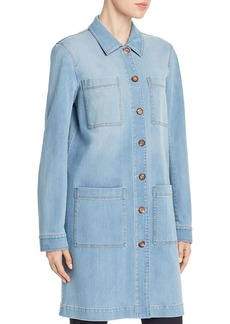 Lafayette 148 New York Corinthia Denim Duster Jacket