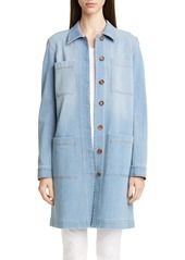 Lafayette 148 New York Corinthia Longline Denim Jacket