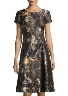 Lafayette 148 New York Cory Watercolor-Print A-line Dress