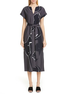 Lafayette 148 New York Cosimia Print Midi Dress