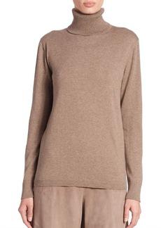 Lafayette 148 New York Cotton & Cashmere Turtleneck Sweater