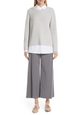 Lafayette 148 New York Cotton & Silk Open Side Pullover