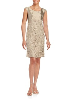 Lafayette 148 New York Cotton & Silk Roundneck Dress