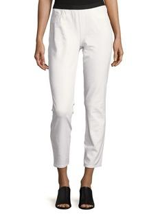 Lafayette 148 New York Cotton-Blend Slim-Fit Pants