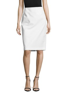 Lafayette 148 New York Cotton-Blend Solid Pencil Skirt