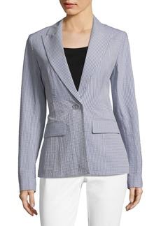 Lafayette 148 Cotton Seersucker Jacket