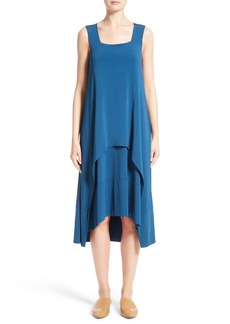 Lafayette 148 New York Crepe Jersey Popover Dress