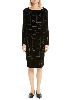 Lafayette 148 New York Cressida Embellished Velvet Dress