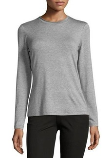 Lafayette 148 New York Crewneck Long-Sleeve Top