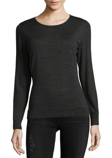 Lafayette 148 New York Crewneck Wool Sweatshirt