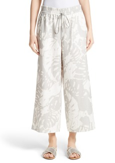 Lafayette 148 New York Crop Linen Drawstring Pants