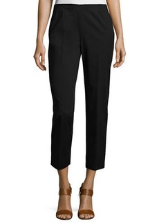 Lafayette 148 Cropped Bleecker Fundamental Bi-Stretch Pant