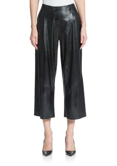 Lafayette 148 New York Cropped Leather Pants