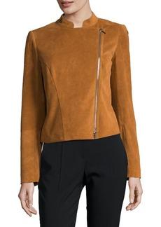 Lafayette 148 Cropped Moto Leather Jacket
