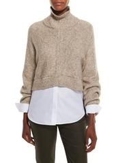 Lafayette 148 New York Cropped Open-Back Kimono Sweater