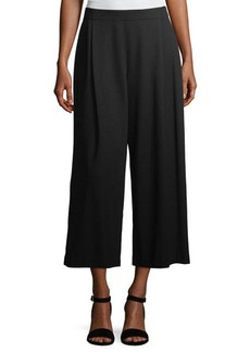 Lafayette 148 New York Cropped Pleated Knit Culotte Pants