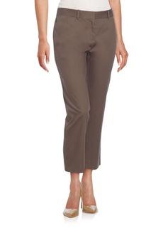 Lafayette 148 New York Cropped Stretch-Cotton Pants