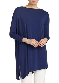 Lafayette 148 New York Cultivated Crepe Jersey Asymmetrical Tunic