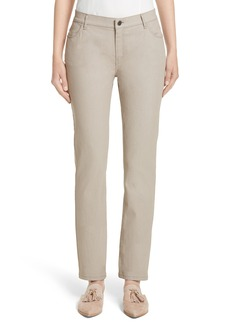 Lafayette 148 New York Curvy Fit Slim Leg Jeans (Nordstrom Exclusive)