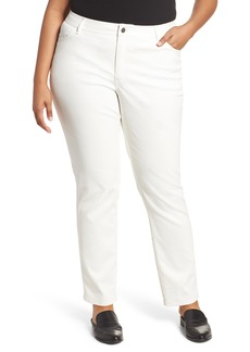 Lafayette 148 New York Curvy Fit Slim Leg Jeans (Plus Size)